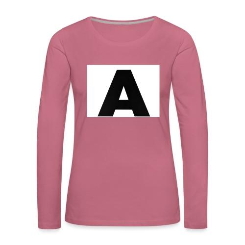 A-685FC343 4709 4F14 B1B0 D5C988344C3B - Dame premium T-shirt med lange ærmer