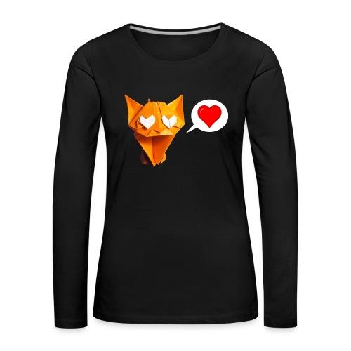 Adorable Cat Origami - Cat - Gato - Gatto - Katze - Women's Premium Longsleeve Shirt
