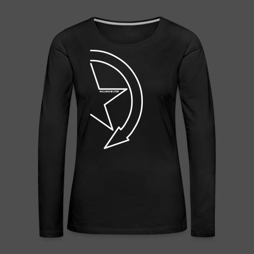 Logo marki 1/2 my - Koszulka damska Premium z długim rękawem