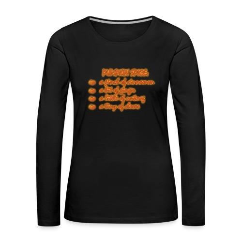 PumpkinSpiceRecipe - Maglietta Premium a manica lunga da donna