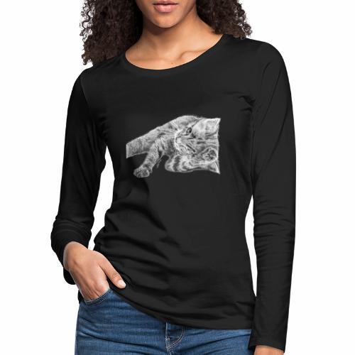 Petit chaton au crayon gris - T-shirt manches longues Premium Femme