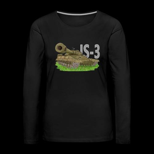 IS-3 (Writing) - Maglietta Premium a manica lunga da donna