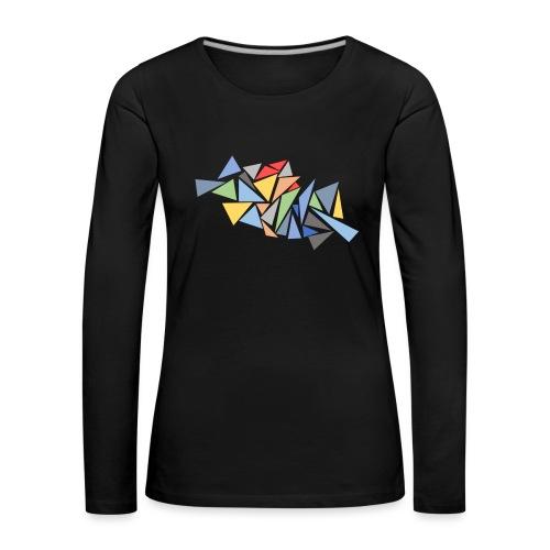 Modern Triangles - Women's Premium Longsleeve Shirt