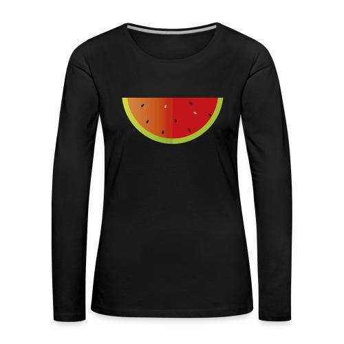 Sandia - Camiseta de manga larga premium mujer
