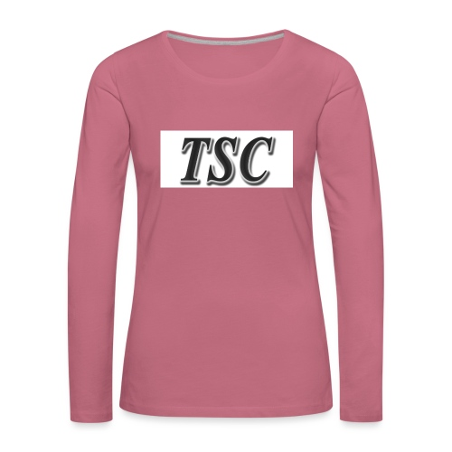 TSC Black Text - Women's Premium Longsleeve Shirt