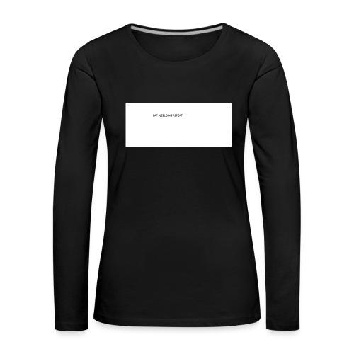 eat sleep sing - Women's Premium Longsleeve Shirt