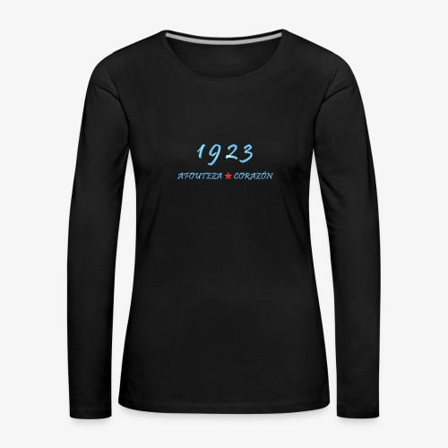 1923 - Camiseta de manga larga premium mujer