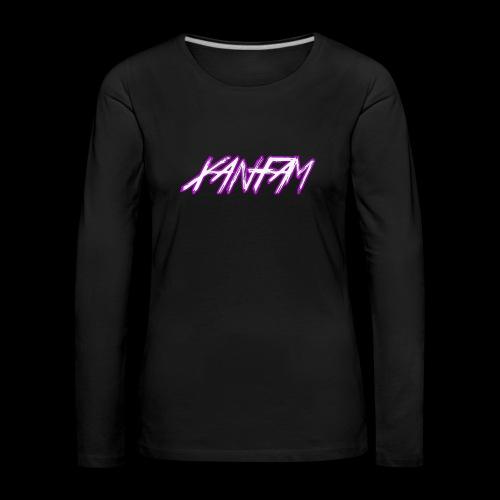 XANFAM (FREE LOGO) - Frauen Premium Langarmshirt