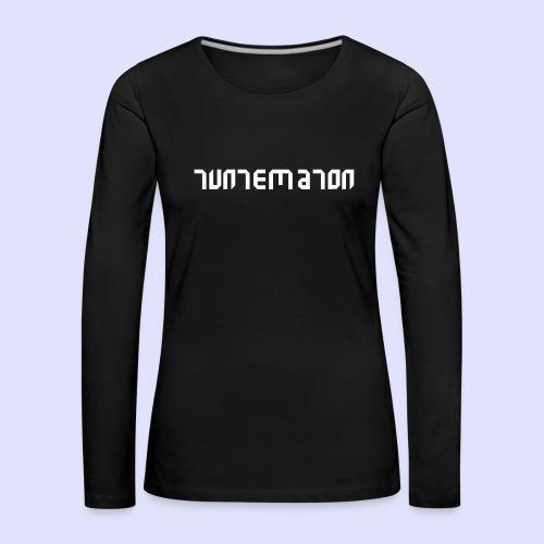 Teippilogo - Naisten premium pitkähihainen t-paita