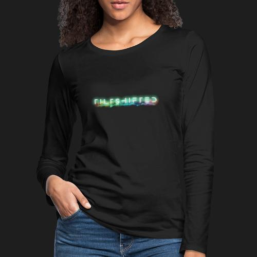 TiltShifted Logo on Black - Naisten premium pitkähihainen t-paita