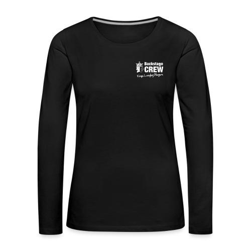 KLP White backstage crew - Women's Premium Longsleeve Shirt