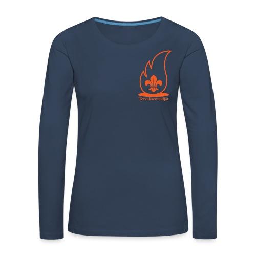 Terte oranssi 1 - Naisten premium pitkähihainen t-paita