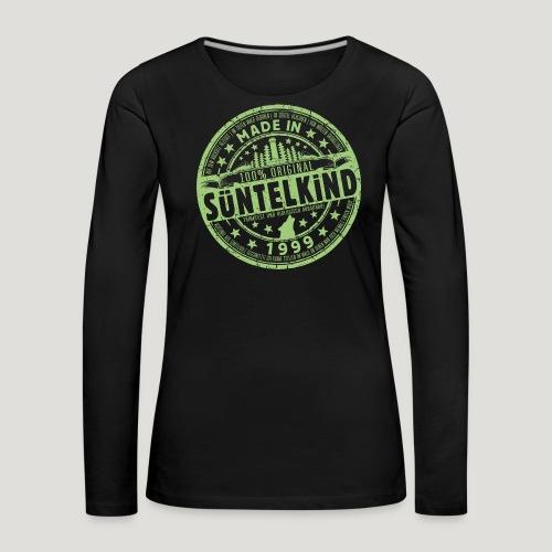 SÜNTELKIND 1999 - Das Süntel Shirt mit Süntelturm - Frauen Premium Langarmshirt