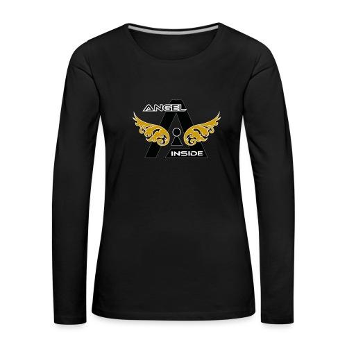 ANGEL INSIDE2-01 - Maglietta Premium a manica lunga da donna
