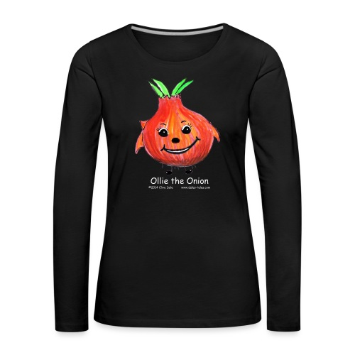 mens black T-shirt Ollie the Onion - Women's Premium Longsleeve Shirt