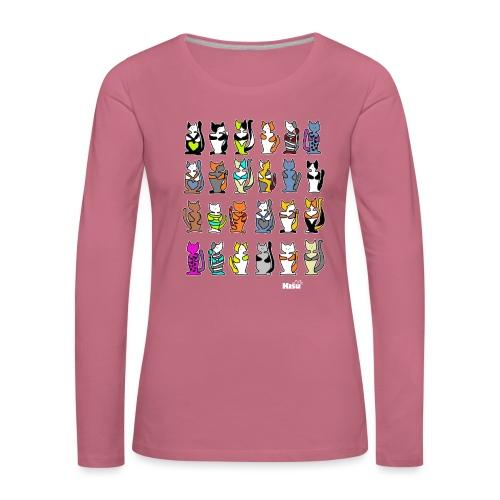 koko paita mustalle - Naisten premium pitkähihainen t-paita