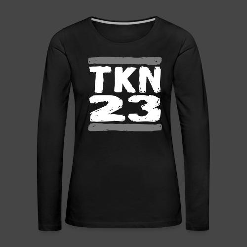 TKN 23 - Maglietta Premium a manica lunga da donna