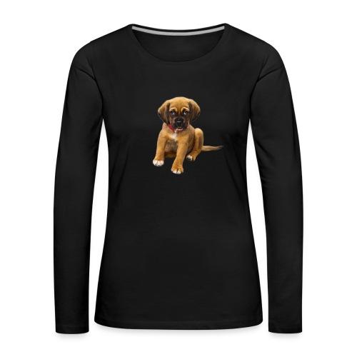 Süsses Haustier Welpe - Frauen Premium Langarmshirt