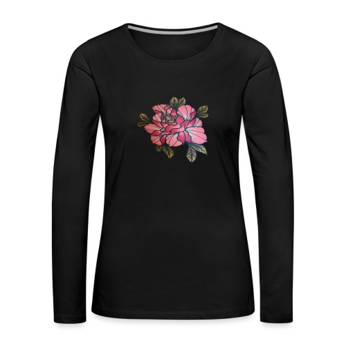 peonia - Camiseta de manga larga premium mujer