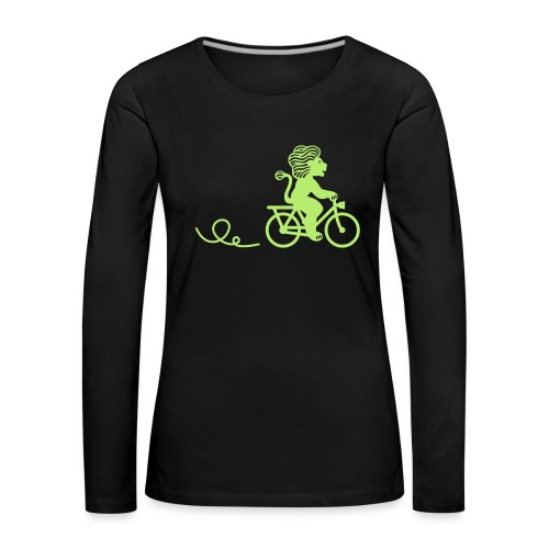 Züri-Leu beim Velofahren ohne Text - Frauen Premium Langarmshirt