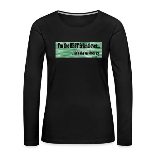 MOOD PHRASES - Camiseta de manga larga premium mujer