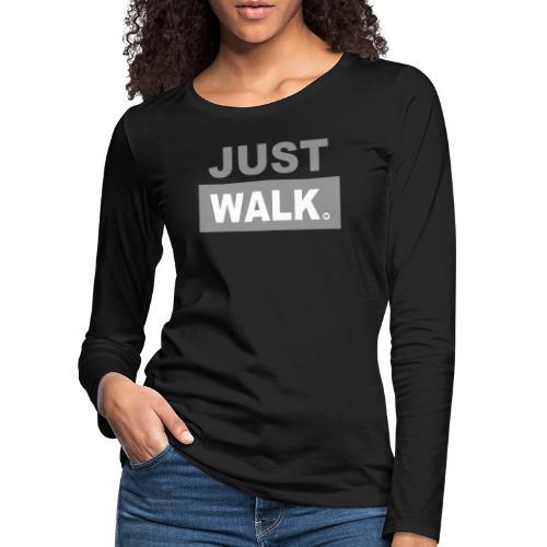 JUST WALK vrouw grijs ls - Vrouwen Premium shirt met lange mouwen