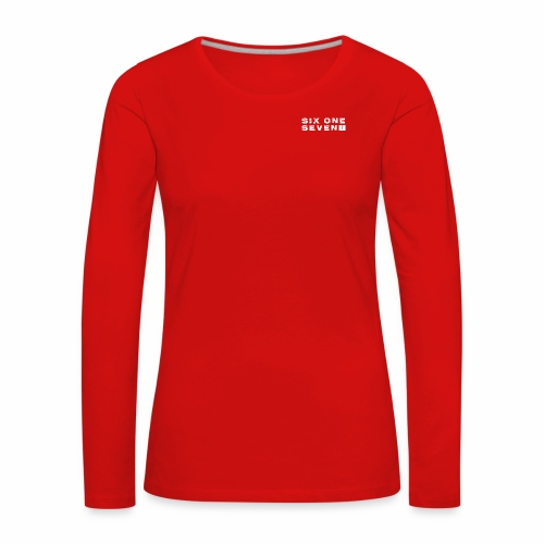 SIX ONE SEVEN 1 PROJECT LOGO FULL 1 WHITE - Women's Premium Longsleeve Shirt