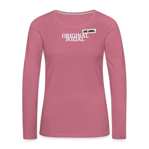 Schriftzug_original - Frauen Premium Langarmshirt