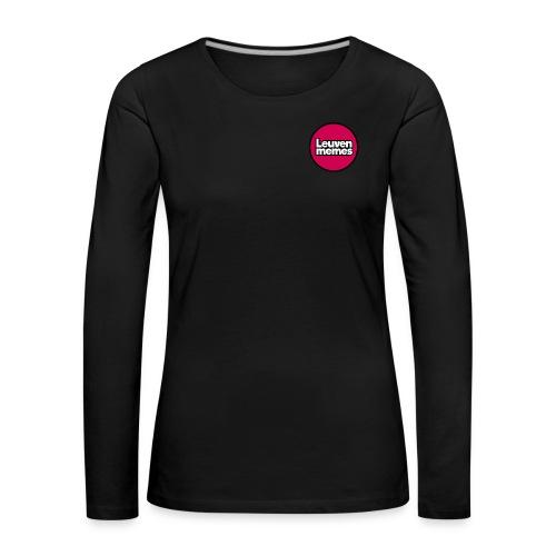 Logo LeuvenMemes - T-shirt manches longues Premium Femme