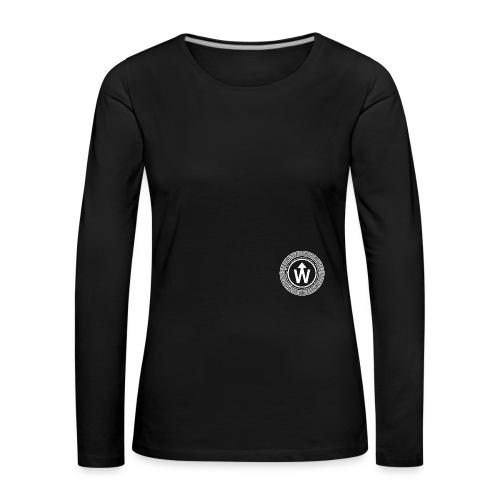 wit logo transparante achtergrond - Vrouwen Premium shirt met lange mouwen
