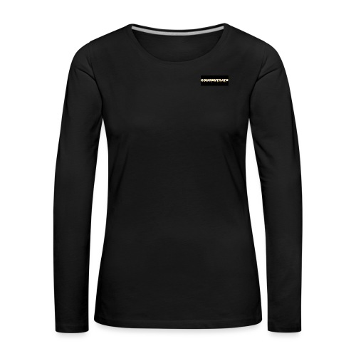 Concentrate on black - Women's Premium Longsleeve Shirt