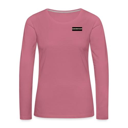 Concentrate on black - Women's Premium Longsleeve Shirt