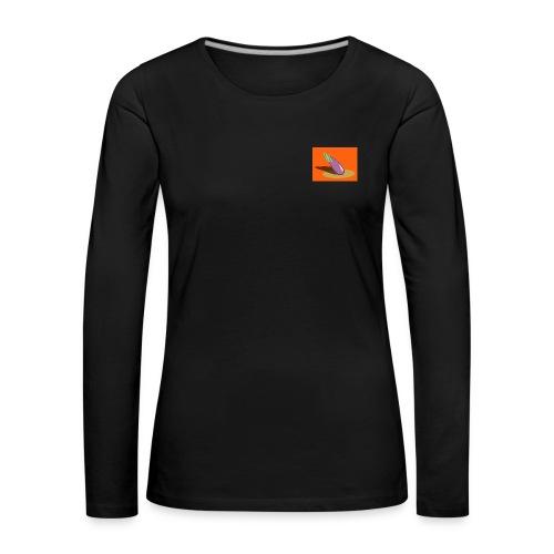 Orange Aubergine - Frauen Premium Langarmshirt