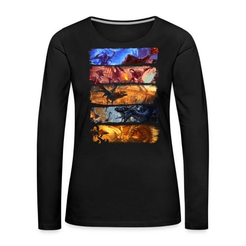 Great Pixel Battle - Dungeons Dragons ja D & D - Naisten premium pitkähihainen t-paita