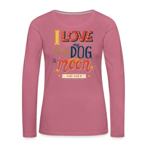 Moon Dog Light - Långärmad premium-T-shirt dam
