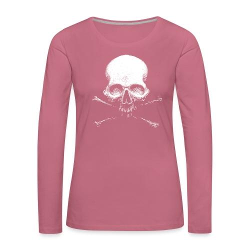 Old Skull - Maglietta Premium a manica lunga da donna