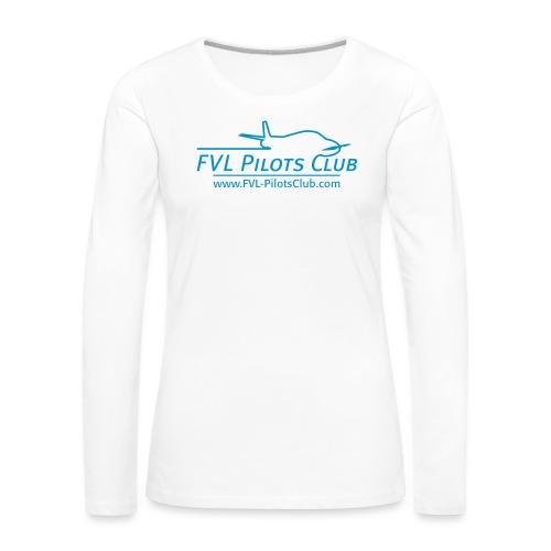 FVL-PilotsClub Logo - Frauen Premium Langarmshirt