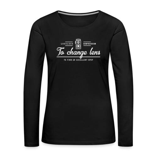 photography1 - Koszulka damska Premium z długim rękawem