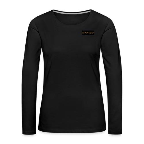 orange writing on black - Women's Premium Longsleeve Shirt