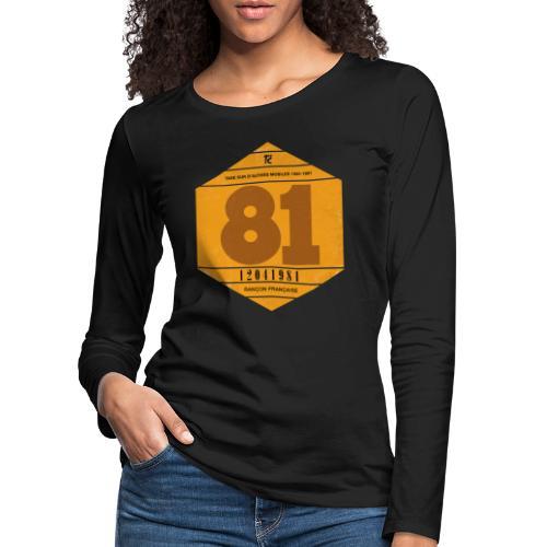 Vignette automobile 1981 - T-shirt manches longues Premium Femme