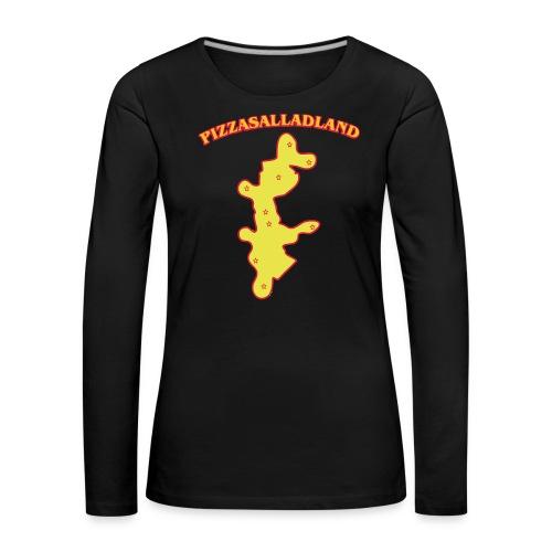 Pizzasalladland - Långärmad premium-T-shirt dam