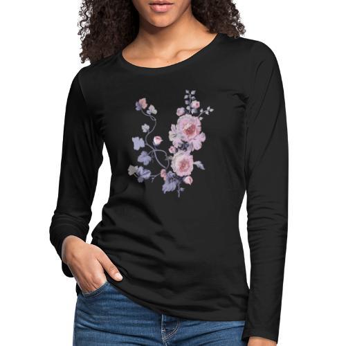 Schlichte Blumen - Frauen Premium Langarmshirt
