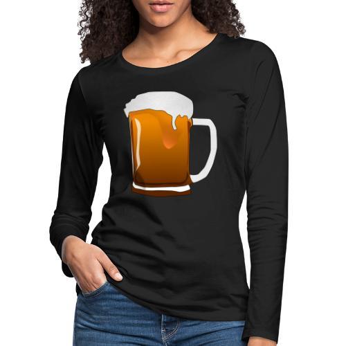 Cartoon Bier Geschenkidee Biermaß - Frauen Premium Langarmshirt