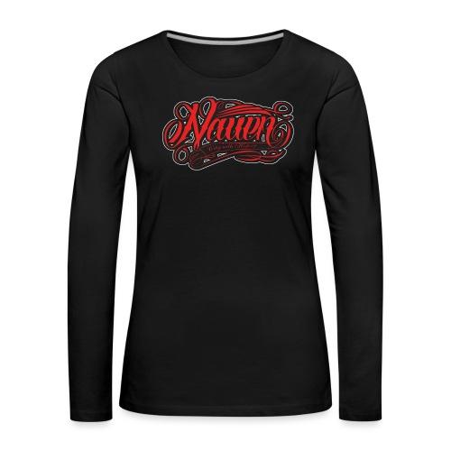 Nauen Black Rocker - Frauen Premium Langarmshirt