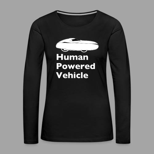 Quest Human Powered Vehicle 2 white - Naisten premium pitkähihainen t-paita