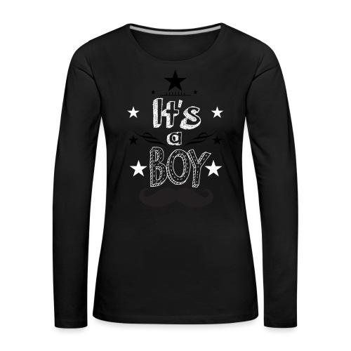 Tshirt Femme Enceinte grossesse tee shirt - T-shirt manches longues Premium Femme
