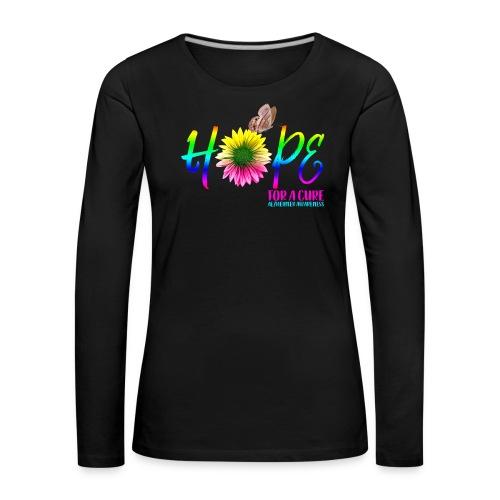 Hope For A Cure Alzheimer Awareness - Women's Premium Longsleeve Shirt