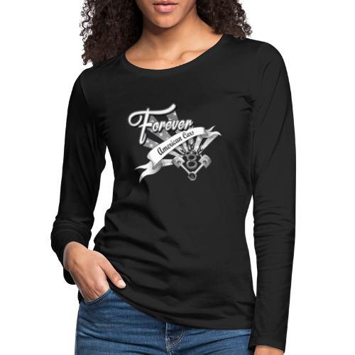 Forever American Cars - Långärmad premium-T-shirt dam