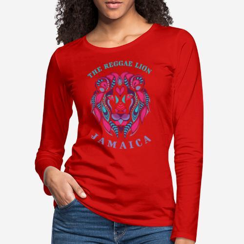reggae lion jamaica - Frauen Premium Langarmshirt