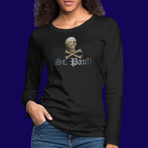 St. Pauli (Hamburg) Piraten Symbol mit Schädel - Frauen Premium Langarmshirt